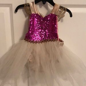 Pink and gold Tutu Sparkle Romper dress